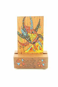 Puerto Rico Vejigante Mask Wood Burning Home by TheFlamboyanTree, $25.00