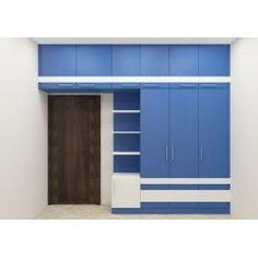 wardrobe with ample storage cabinets offering commodious space within the cabinets lets you store essentials. You can even customize the wardrobe as per your convenience according to the room space. Wardrobe Interior Design, Wardrobe Door Designs, Wardrobe Design Bedroom, Bedroom Bed Design, Bedroom Furniture Design, Home Decor Furniture, Wardrobe Laminate Design, Almirah Designs, Bedroom Cupboard Designs