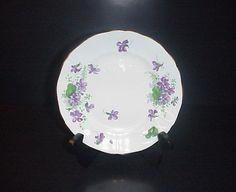 Adderley Plate Violets Fine Bone China Made England #Adderley