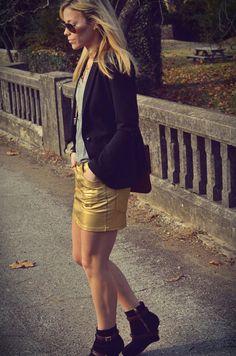 metallic skirts