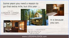 Luxury to give and to get, this year give that special someone the gift of the Logden for Christmas. | Logden Lodge www.logdenlodge.com