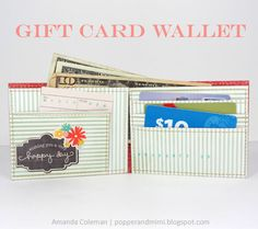 Popper Amp Mimi Paper Crafts DIY Gift Card Wallet By Amanda Coleman Birthday
