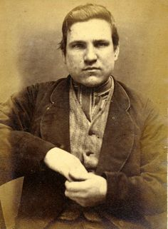 Thomas Dixon was sentenced to 6 months for the crime - theft of money at Newcastle City Gaol.    Age (on discharge): 20  Height: 5.6  Hair: Brown  Eyes: Blue  Place of Birth: Newcastle  Status: Single  Occupation: Fireman    These photographs are of convicted criminals in Newcastle between 1871 - 1873.