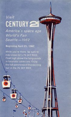 Old ad from the Century 21 Exhibit in 1962