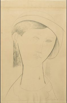 Amedeo Modigliani's pencil drawing of Beatrice Hastings, circa 1915