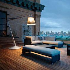 Philippe Starck Outdoor Wicker Lighting by Flos for Dedon