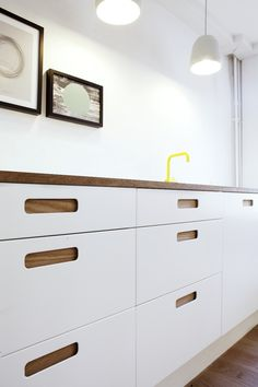 Reform's Basis 02 kitchen with yellow VOLA water tap  check it out on www.reformcph.com