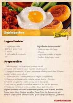 from Recetas Ecuatorianas Comida Latina, Latin Food, Stevia, Ecuadorian Recipes, Ale, Food And Drink, Cooking Recipes, Lunch, Snacks