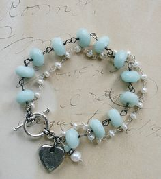 Forever Bracelet Chalcedony and Fresh Water Pearl