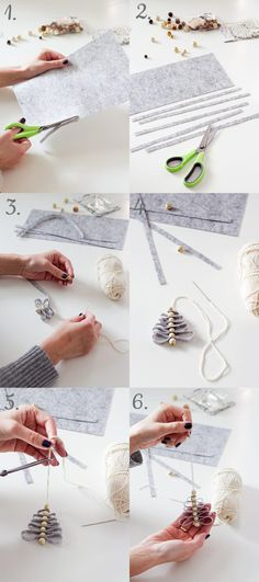 Do you see how easy it is? And what a beautiful! Diy Felt Christmas Tree, Toddler Christmas, Christmas Wood, Christmas Projects, Beautiful Christmas Decorations, Diy Weihnachten, Xmas Ornaments, Christmas Inspiration, Diy And Crafts