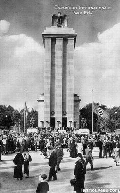 Albert Speer, German pavilion, Paris International Exhibition, 1937.