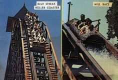 Cedar Point 1966 - I was sooooo disappointed that I couldn't ride it the first year it opened. Papa said he would make me special shoes so I would be taller.