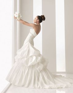 Ball gown floor length taffeta bridal gown with beading embellishment