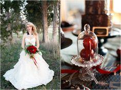 lovely holiday shoot with alea lovely! Red Bouquet Wedding, Wedding Flowers, Wedding Dresses, Apple Red Wedding, Farm Wedding, Dream Wedding, Victorian Gardens, Winter Wedding Inspiration, Wedding Ideas