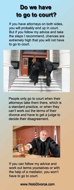 """Divorce expert attorney Ed Sherman answers the question, """"Do we have to go to court to get a divorce?"""" divorce advice for women"""