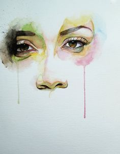 Ive done similar paintings before but never with the tear effect