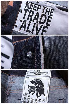 R Japanese Denim, Denim Branding, Simple Designs, Denim Jeans, Detail, American, Life, Style, Fashion