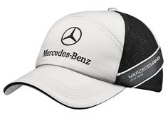 Unisex cap, DTM B67995246 An embroidered Mercedes-Benz logo features on this sporty, silver-coloured baseball cap.  The sides feature black mesh panels, across which runs a carbon-look band, printed with the team logo.  Colour: silver 100% polyester Metal clip for adjusting fit