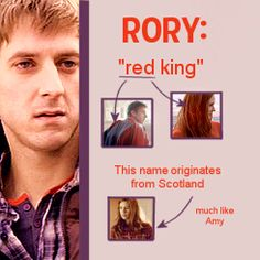 Etymology of companion names: Rory. Doctor Who Companions, Rory Williams, Hello Sweetie, Amy Pond, Eleventh Doctor, Names With Meaning, Torchwood, David Tennant, Dr Who