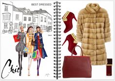 """best friends ; the gold fur coat"" by fatal-poison-4-u on Polyvore"