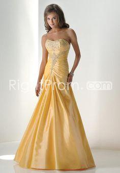 Glamorous Taffeta A-line Sweetheart Sleeveless Floor-length Prom Dresses