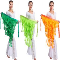 New-Belly-Dance-Dancing-Belt-Performance-Tassel-Wave-Hip-Scarf-Belt-Skirt-Sexy