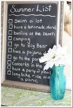 "Fun signage for your summer window displays. TGtbT.com suggests that as each week progresses, check off one more activity, using the theme for your merchandise display: e.g. ""Bonfire at the beach""= summer sweaters & jeans, ""Concert in the park"" = sweet dresses, ""Pool party"" = picnic table, pitchers, colorful glasses and trays.... click for SCADS more display window ideas in our Products for the Professional Resaler"