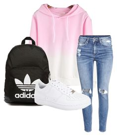 """""""Affordable"""" by ineedthisnow on Polyvore featuring adidas Originals, H&M, NIKE, women's clothing, women's fashion, women, female, woman, misses and juniors"""