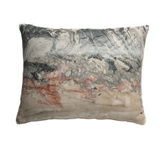 Topo Marbled Pillow in Red Desert - Small - Rule of Three - $89.99 - domino.com