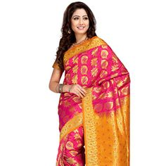 #Orange Art #Kanchipuram #SilkSaree