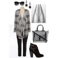 Simple Sweater and Leggings- Plus Size Outfit, created by boswell0617 on Polyvore