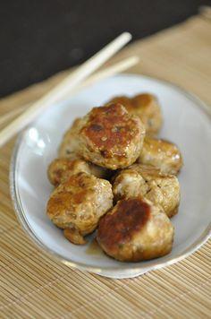 Boulettes de poulet sauce soja caramélisée