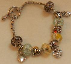 European Style Charm Bracelet in light multi by JnJGiftsnCrafts