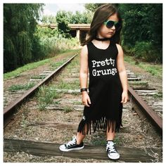 Pretty Grunge tee by Little Wonderland Clothing  #blackandwhite #monochrome #kidmodel #kidfashion #music #style #hip #littlewonderlandclothing