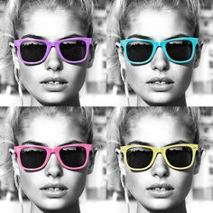playful cute colored sunglasses