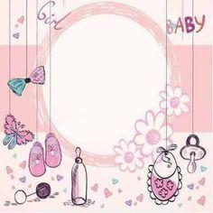 Image Result For ثيمات مواليد بنات جاهزه للطباعه Baby Scrapbook Baby Girl Art Baby Shower Elephants Girl