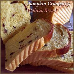 My Mind Patch: Pumpkin Cranberry Walnut Yeast Loaf 南瓜蔓越莓核桃吐司 Cranberry Walnut Bread, Pumpkin Cranberry Bread, Soft Bread Recipe, Japanese Milk Bread, Yeast Starter, Bread Maker Recipes, Bread Art, Sweet Pastries, Sweet Bread
