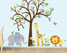 Safari Wall Decal Nursery Wall Decal Jungle von StickItDecalDesigns