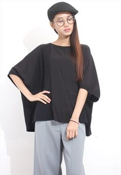 Mixed Fabric Oversized Top