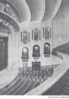 Very rare photo of the interior of His Majesty's Theatre Johannesburg Old Pictures, Old Photos, Johannesburg City, Art Diary, Art Deco Buildings, My Land, Historical Pictures, Abandoned Buildings