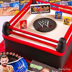 Win the best-mom title! Your birthday star and his buddies will be KO'd by this ultimate WWE cake.