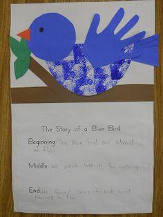 Mrs. T's First Grade Class: The Story of a Blue Bird
