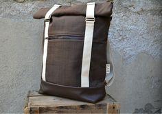 AHTI-reppu, ruskea (nahkapohjalla)   Weecos Backpacks, Bags, Fashion, Handbags, Moda, Fashion Styles, Backpack, Fashion Illustrations, Backpacker