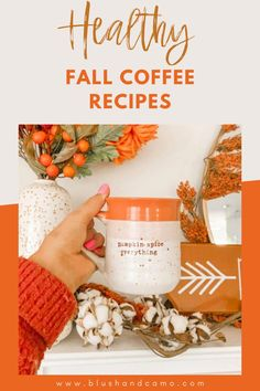 Can you feel fall in the air? I sure can! I love a delicious coffee on a cool morning! With these five healthy coffee recipes, you'll be able to make your own coffee at home! These ideas are delicious and easy! Come check them out! #healthycoffeerecipes #fallcoffee #createathome