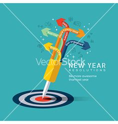 New year resolution concept on VectorStock