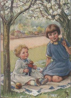 Under the blossoming trees by Cicely Mary Barker www.beeswingprints.com