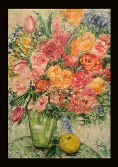 ¨English Roses¨, tecnica mixta en papel  serie: Eterna Primavera www.mariadoloresfelix.blogspot.com