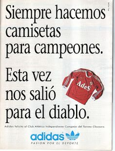 1989 Adidas y Club Atletico Independiente