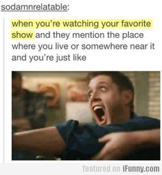 Totally did this when Sam and Dean were hunting a monster in a city near my hometown.