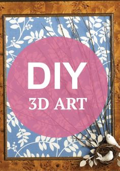 Collect branches from your yard to make this super creative 3D artwork! Perfect for fall!